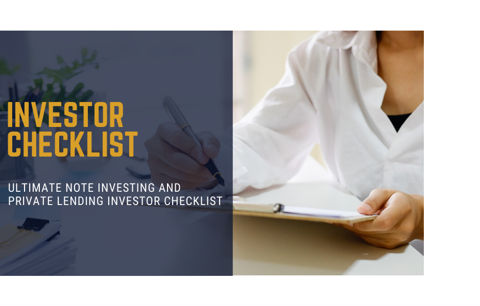 Note Investing and Private Lending Checklist