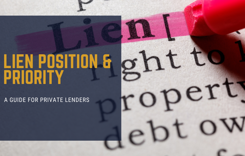 Lien Position and Priority