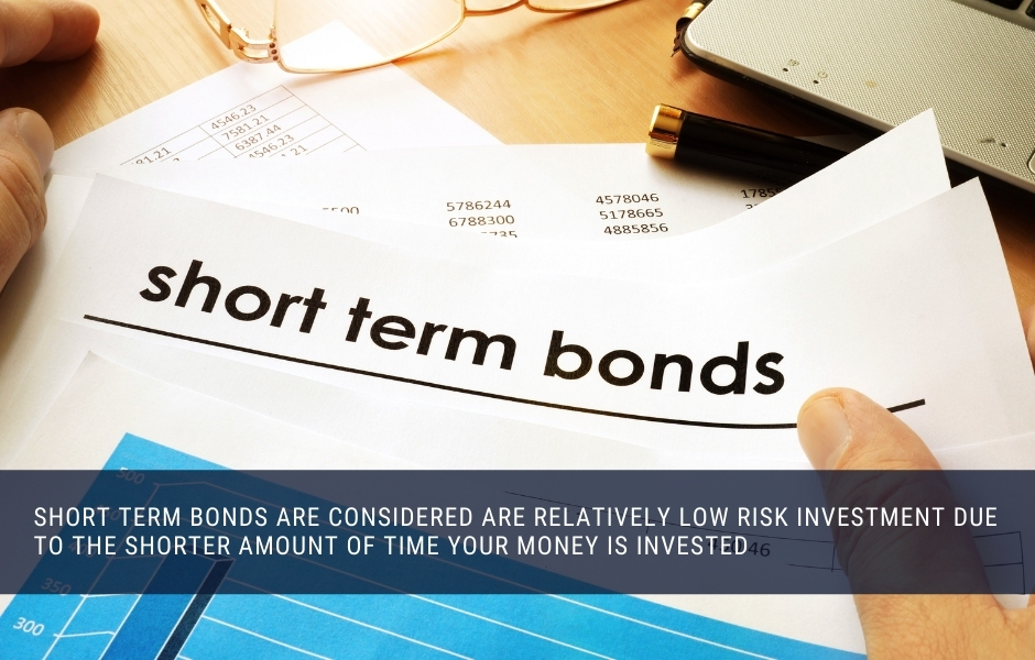 Short term bonds are considered relatively low risk