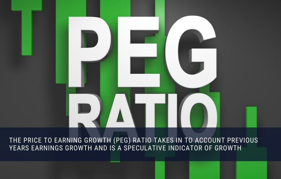 The price to earning growth ratio is a speculative assessment of a stocks earnings growth potential