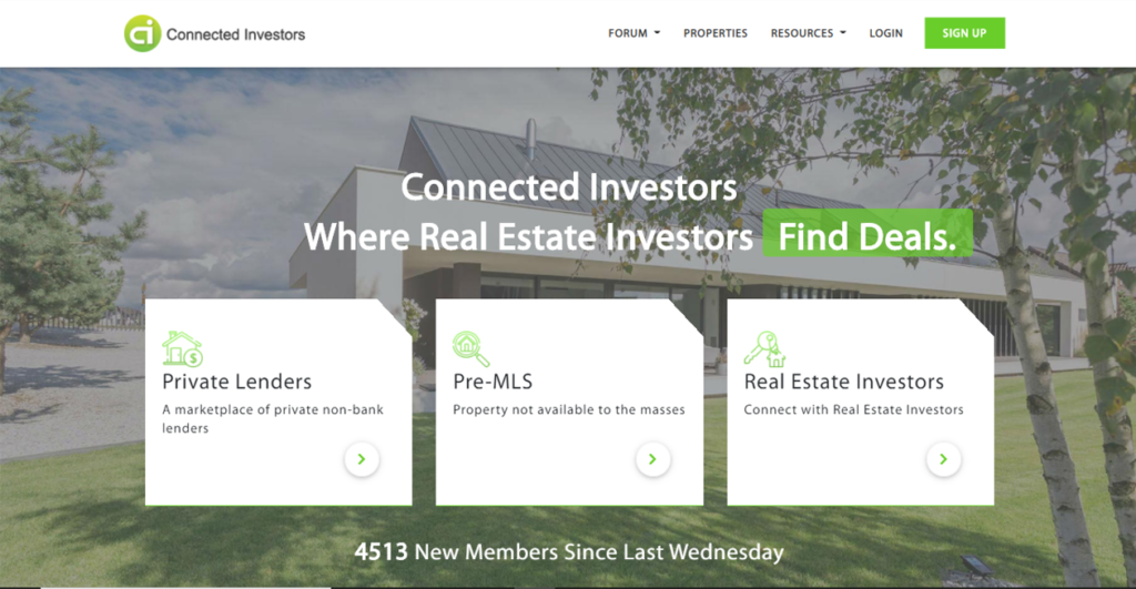 Connected Investors connects private lenders with real estate investors looking for funding