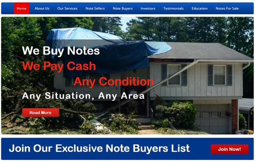 NoteOlogy have a Buyers List where you can buy mortgage notes