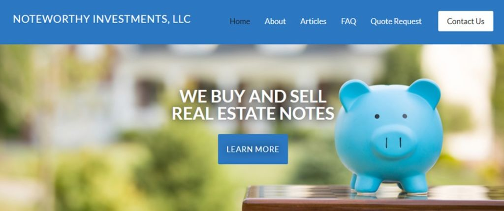 Noteworthy Investments are a Florida-based note investor offering notes for sale