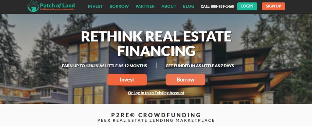 Patch of Land is a real estate debt crowdfunding website