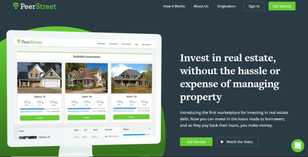 Peer Street offer accredited investors the opportunity to invest in mortgage notes