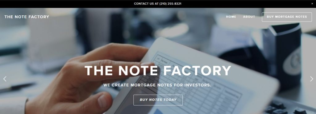 The Note Factory offers seller financed mortgage notes for sale