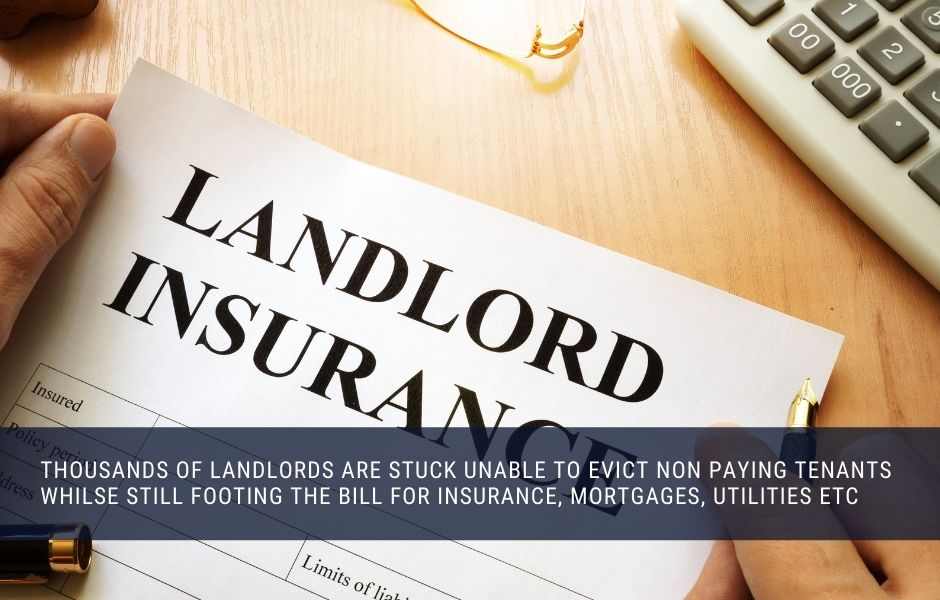 Landlords have been left with non paying tenants but still remain responsible for all the property costs