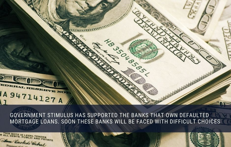 Government stimulus has supported banks, but that support will son be gone