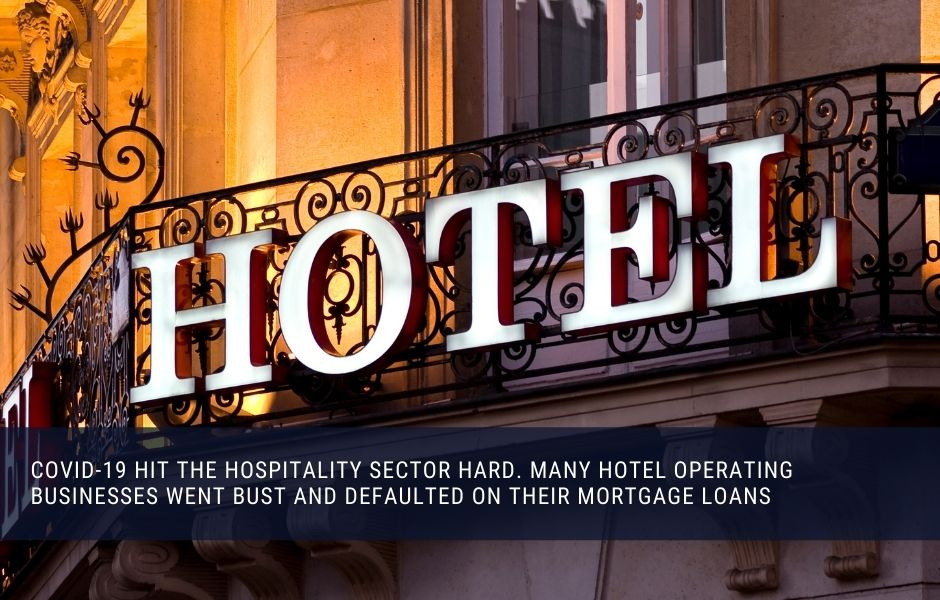 Hoteal and hospitality real estate was hit hard during the covid-19 pandemic
