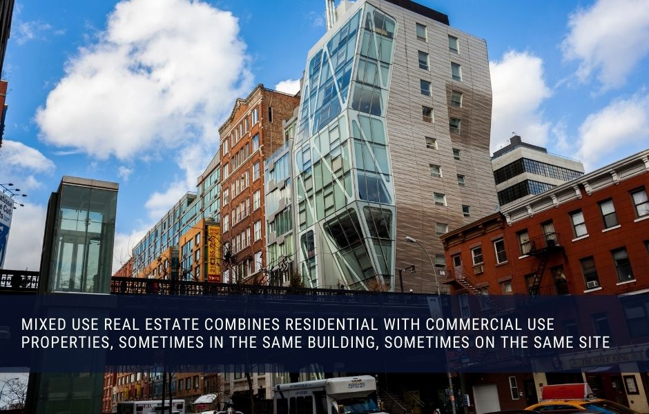 Mixed use commercial real estate can be a good monthly income investment
