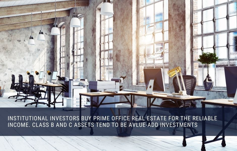 Officde real estate can be a great monthly income investment