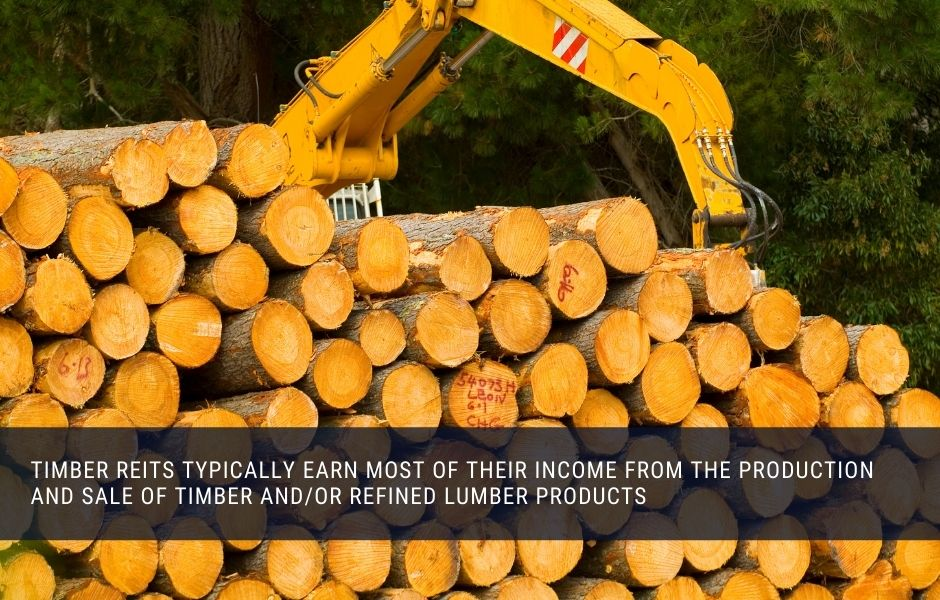 Timber REITs typically earn most of their income from the production and sale of trees and refined lumber products
